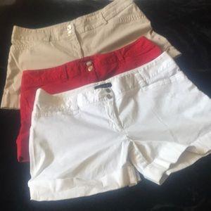 Lot of Three Classy pairs of WHBM Shorts size 14